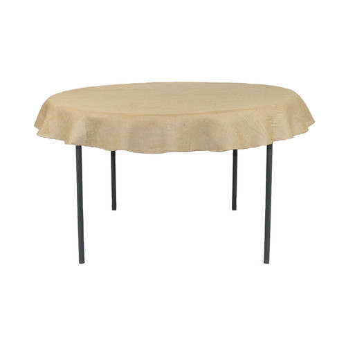 60 Inch Round Burlap Tablecloth