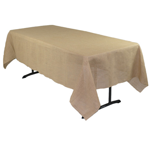 60 x 126 Inch Rectangular Burlap Tablecloth