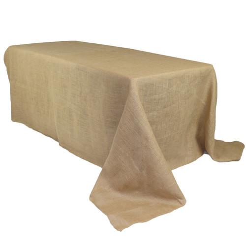 90 x 156 Inch Rectangular Burlap Tablecloth