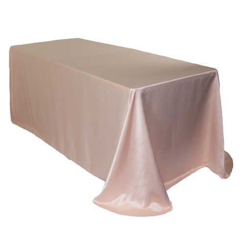 90 x 132 Inch Rectangular L'amour Tablecloth Blush