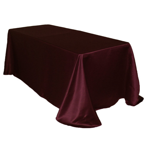 90 x 156 Inch Rectangular L'amour Tablecloth Burgundy