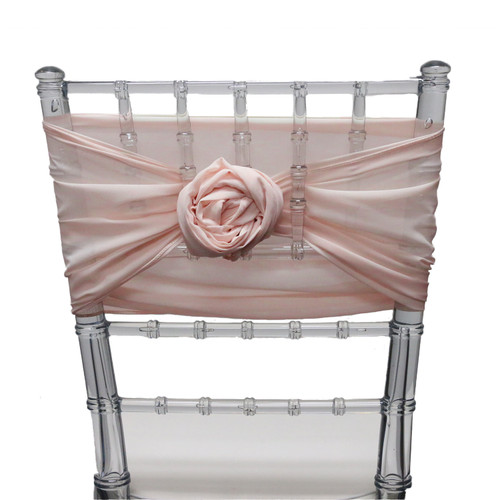 5 Pack 6 Ft Chiffon Chiavari Chair Sashes Blush