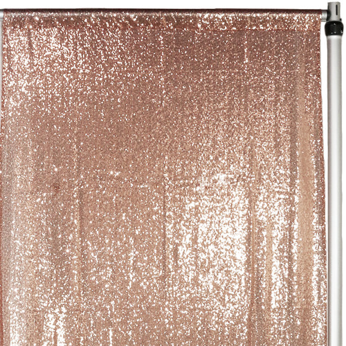 Glitz Sequin Drape/Backdrop 7 ft x 4 ft Blush