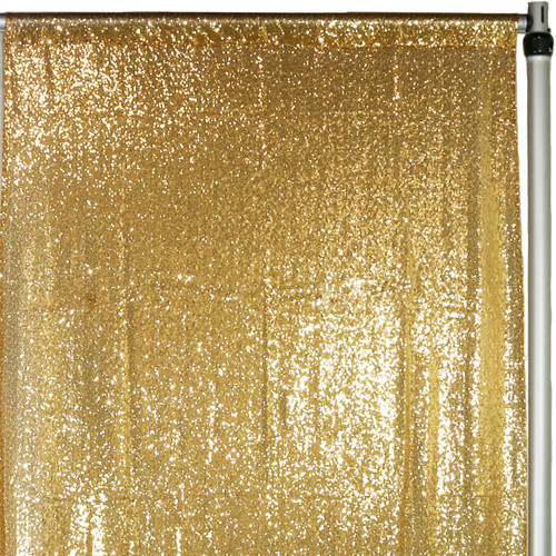 Glitz Sequin Drape/Backdrop 7 ft x 4 ft Gold