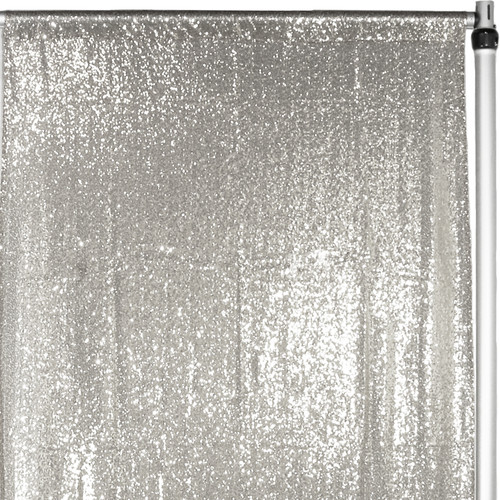 Glitz Sequin Drape/Backdrop 7 ft x 4 ft Silver