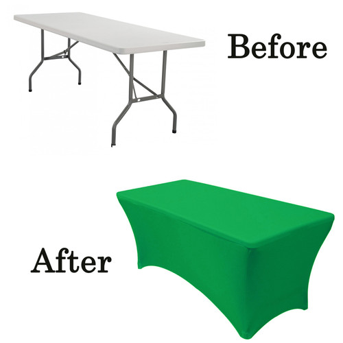 Emerald Green lifetime folding table covers