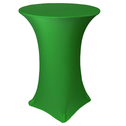 30 Inch Highboy Cocktail Round Stretch Spandex Table Cover Emerald Green