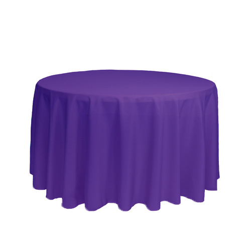 108 Inch Round Polyester Tablecloth Purple