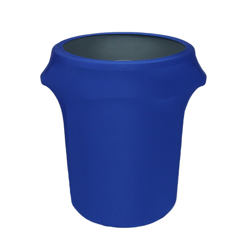 32 Gallon Spandex Trash Can/Waste Container Cover Royal Blue