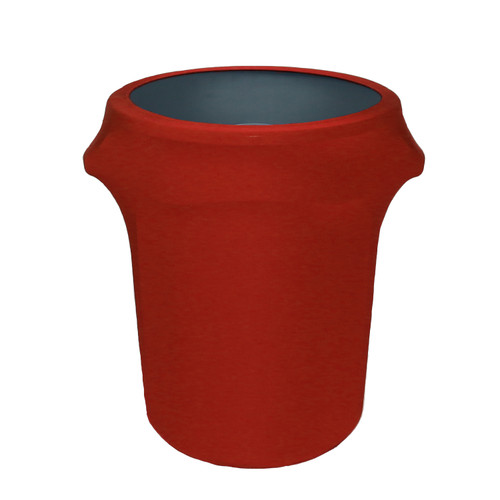 32 Gallon Spandex Trash Can/Waste Container Cover Red