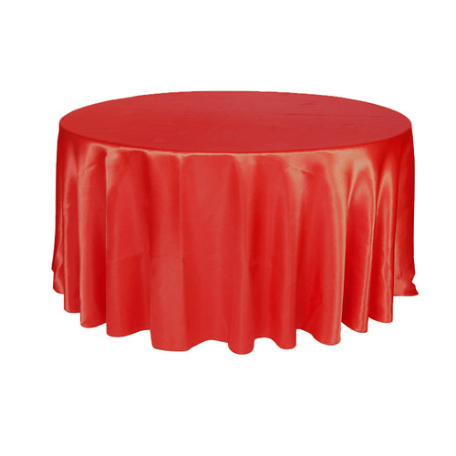 120 inch Round Satin Tablecloth Black
