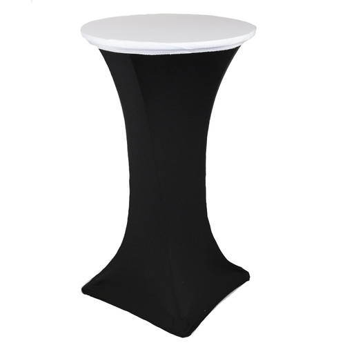 "24"" Stretch Spandex Table Topper/Cap White"