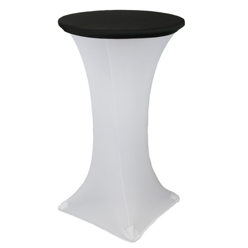 24 Inch Stretch Spandex Table Topper/Cap Black