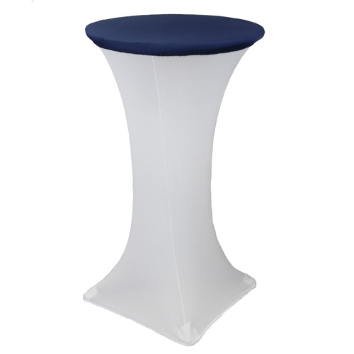 24 Inch Stretch Spandex Table Topper/Cap Navy Blue