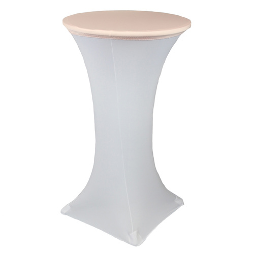 24 Inch Stretch Spandex Table Topper/Cap Blush