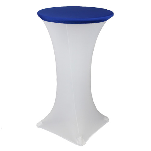 24 Inch Stretch Spandex Table Topper/Cap Royal Blue