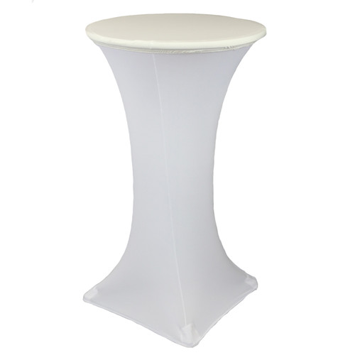 24 Inch Stretch Spandex Table Topper/Cap Ivory