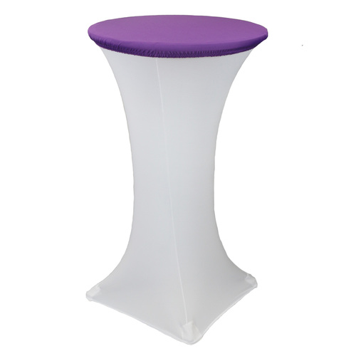 24 Inch Stretch Spandex Table Topper/Cap Purple
