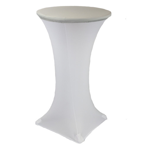 24 Inch Stretch Spandex Table Topper/Cap Silver
