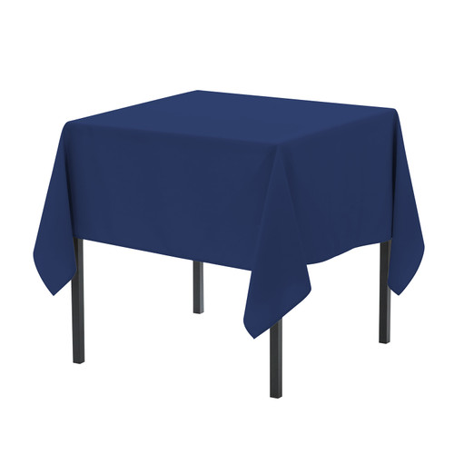 90 x 90 Inch Square Polyester Tablecloth Navy Blue