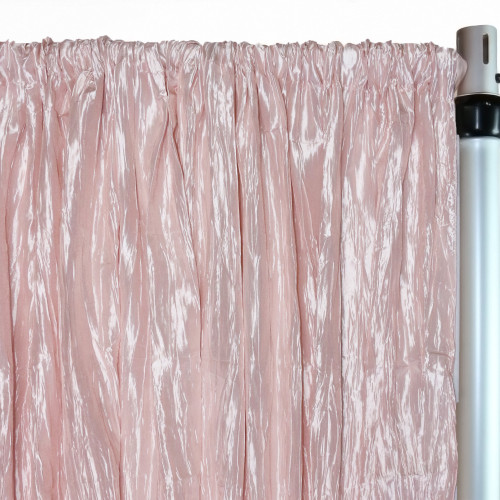 Crinkle Taffeta Drape/Backdrop 8 ft x 97 inches Blush
