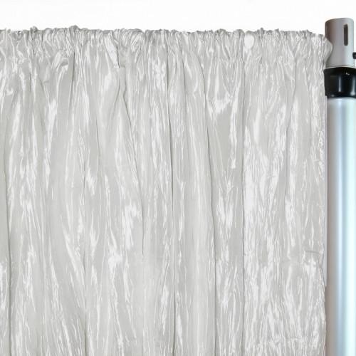 Crinkle Taffeta Drape/Backdrop 8 ft x 97 inches White