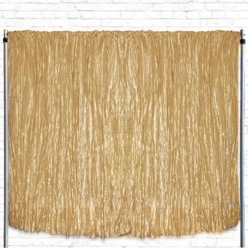Crinkle Taffeta Drape/Backdrop 8 ft x 97 inches Gold
