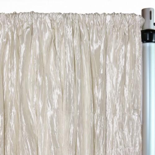 Crinkle Taffeta Drape/Backdrop 12 ft x 97 inches Ivory