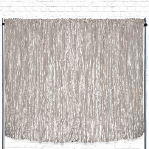 Crinkle Taffeta Drape/Backdrop 12 ft x 97 inches Ivory