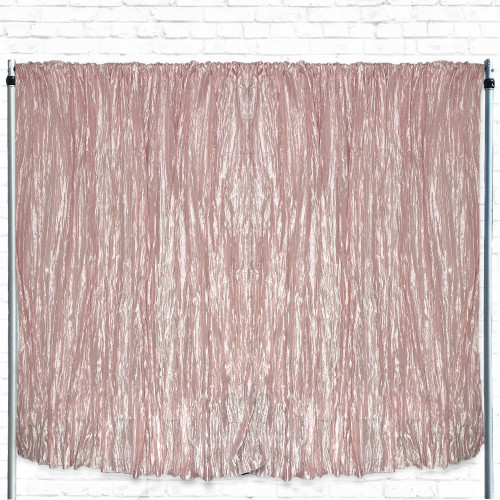 Crinkle Taffeta Drape/Backdrop 14 ft x 97 inches Blush