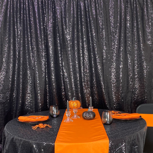 black glitz sequin drape