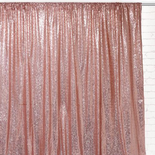 Glitz Sequin on Taffeta Drape/Backdrop 14 ft x 104 Inches Blush