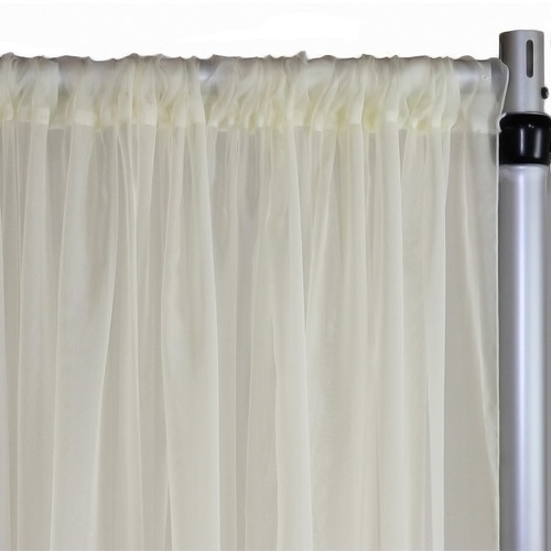 Voile Sheer Drape/Backdrop 30 ft x 116 Inches Ivory