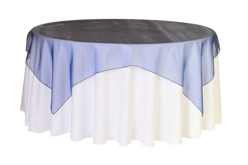 "Organza Overlay 90"" x 90"" Square - Navy Blue"