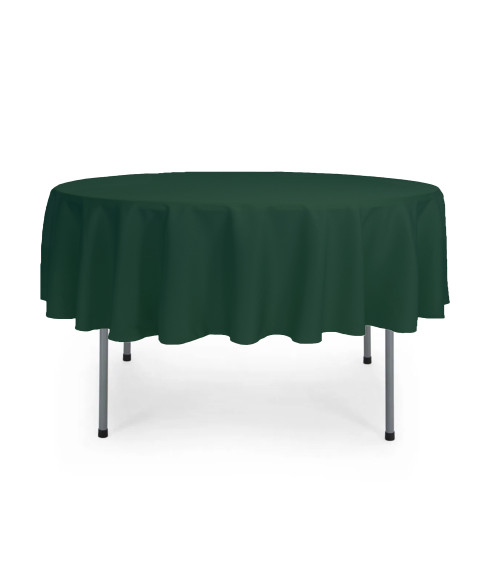 70 Inch Round Polyester Tablecloth Hunter Green