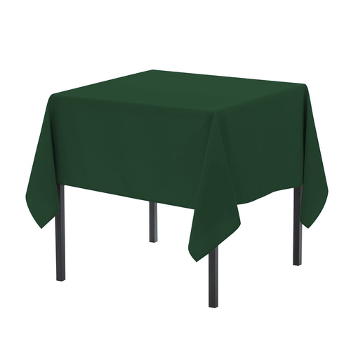 72 x 72 Inch Square Polyester Tablecloth Hunter Green