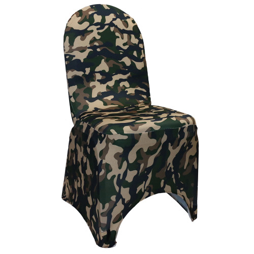 Stretch Spandex Banquet Chair Cover Camo