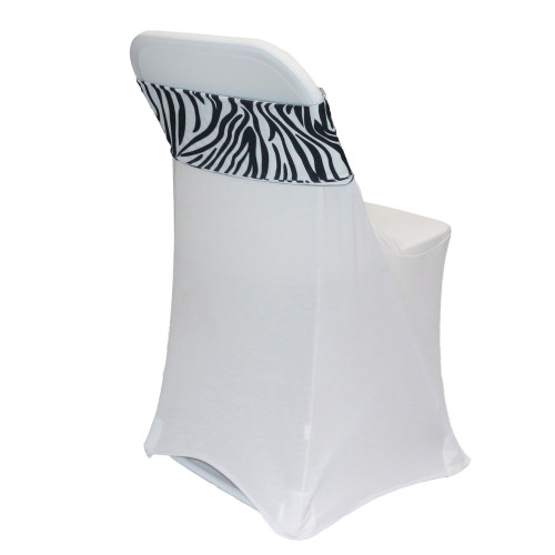 Stretch Spandex Chair Bands Zebra for folding chairs