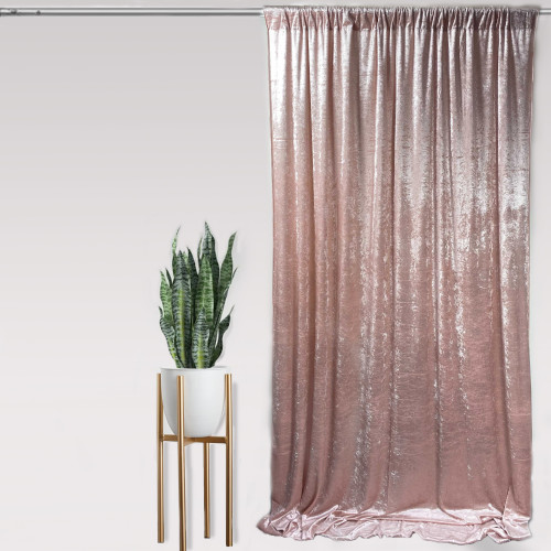 "Velvet 14ft x 60"" Drape with 4 inch pocket Blush"