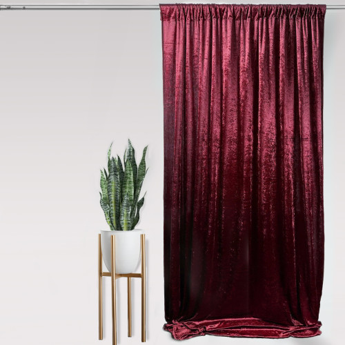 "Velvet 14ft x 60"" Drape with 4 inch pocket Burgundy"