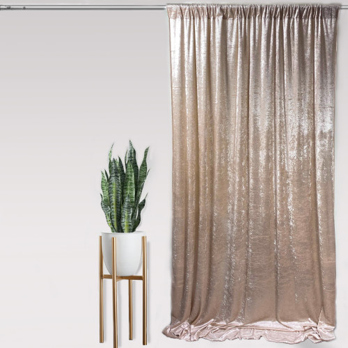 "Velvet 14ft x 60"" Drape with 4 inch pocket Gold"