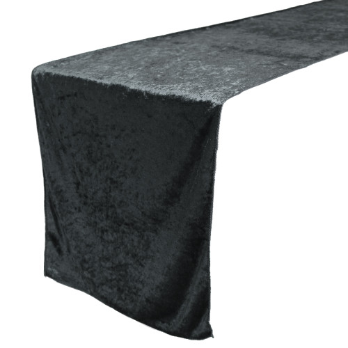 14 x 108 Inch Velvet Table Runner Black