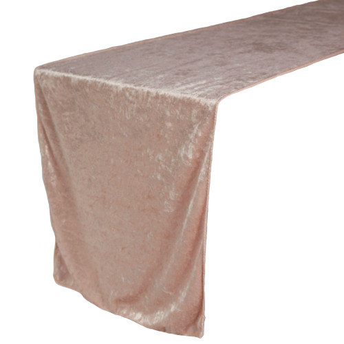14 x 108 Inch Velvet Table Runner Blush