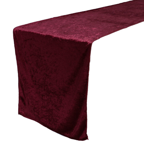 14 x 108 Inch Velvet Table Runner Burgundy