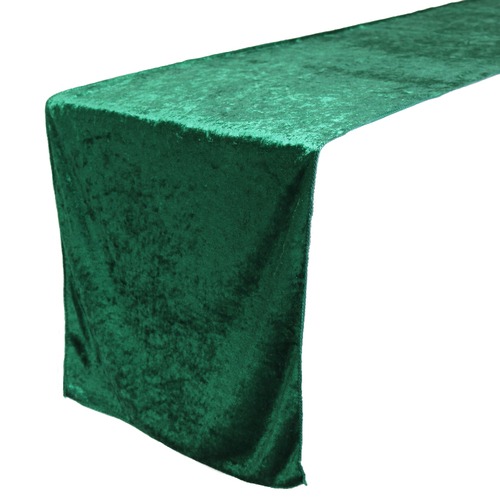 14 x 108 Inch Velvet Table Runner Emerald Green