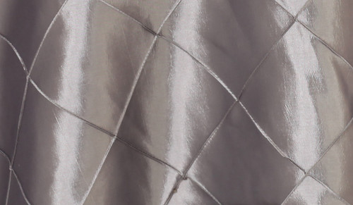120 Inch Pintuck Taffeta Round Tablecloth Dark Silver / Platinum