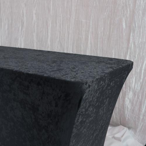 Velvet Spandex 8 Ft Rectangular Table Cover Black