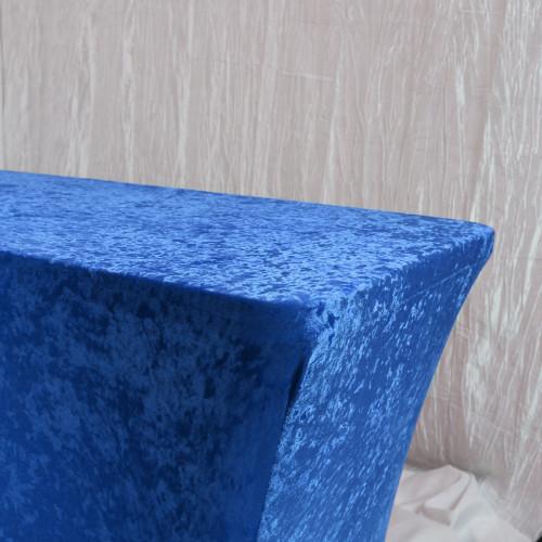 Velvet Spandex 8 Ft Rectangular Table Cover Royal Blue