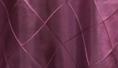 120 Inch Pintuck Taffeta Round Tablecloth Eggplant