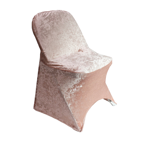 Velvet Spandex Folding Chair Cover Blush
